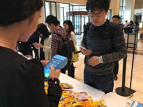 亿美短信为大会提供签到校验服务