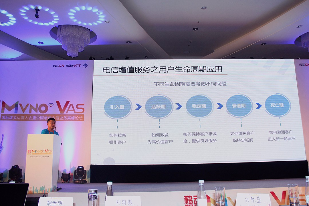 亿美软通产品经理李俊彪现场演讲