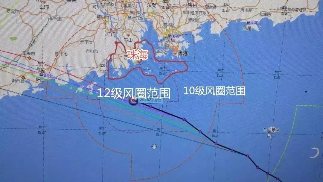 """最强台风""""山竹""""风圈"""
