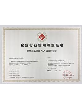 亿美软通企业行业信用等级证书.jpg